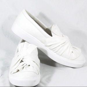 MIA ZOE White Casual Slip On Fashion Sneakers